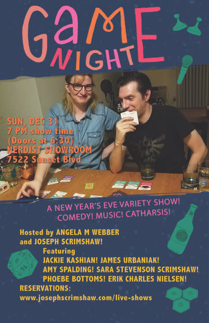 Shows In Los Angeles >> Game Night New Year S Eve Variety Show Nerdmelt Showroom Los Angeles Ca December 31st 2017 7 00 Pm