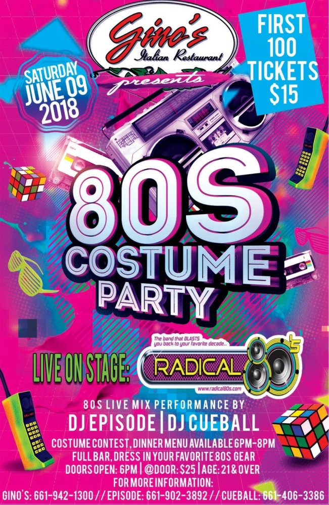 GINO'S 80's PARTY 44950 Valley Central Way #101 @ GINOS