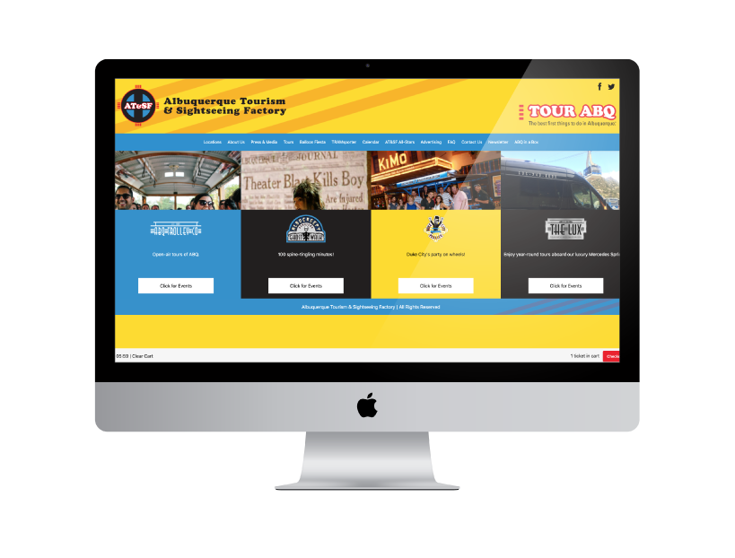 Custom Tour and Attraction Website